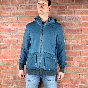 WLG Giorgio Brato Full Zip Hoodie Sweatshirt Large